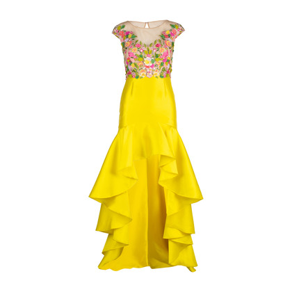 Authentic Second Hand Marchesa Notte Embroidered Mikado High-Low Dress (PSS-515-00249)