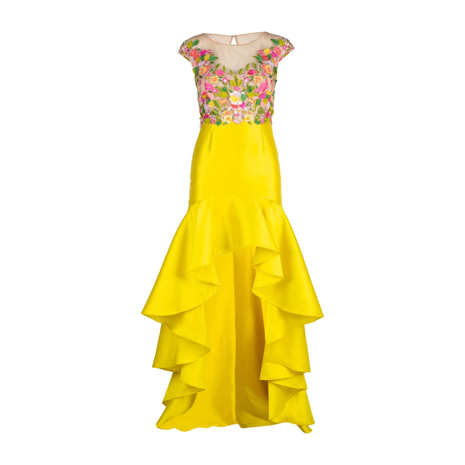 cf6de8ce44d Authentic Second Hand Marchesa Notte Embroidered Mikado High-Low Dress  (PSS-515-00249) - THE FIFTH COLLECTION