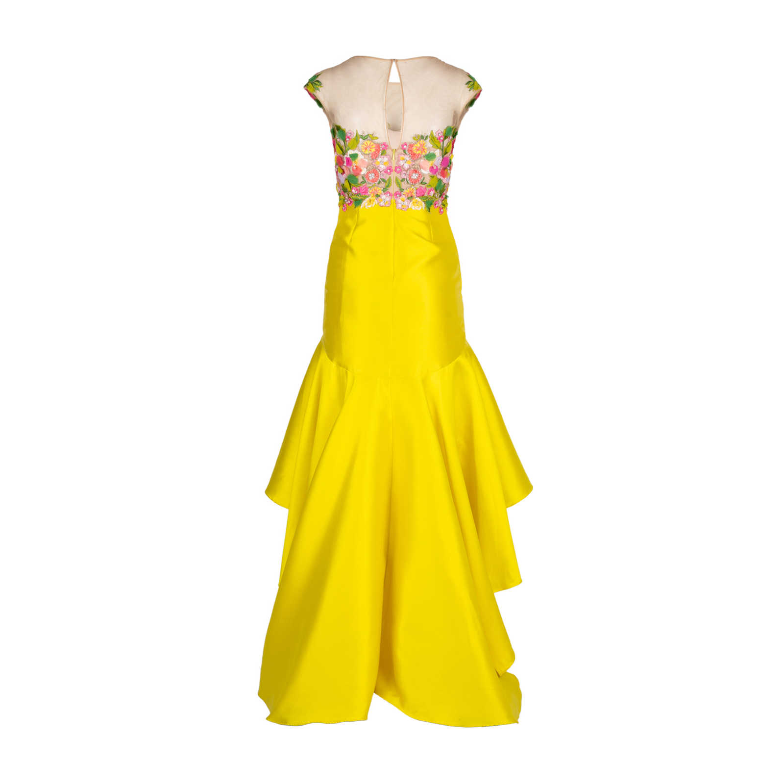 a237be0d590 ... Authentic Second Hand Marchesa Notte Embroidered Mikado High-Low Dress  (PSS-515- ...