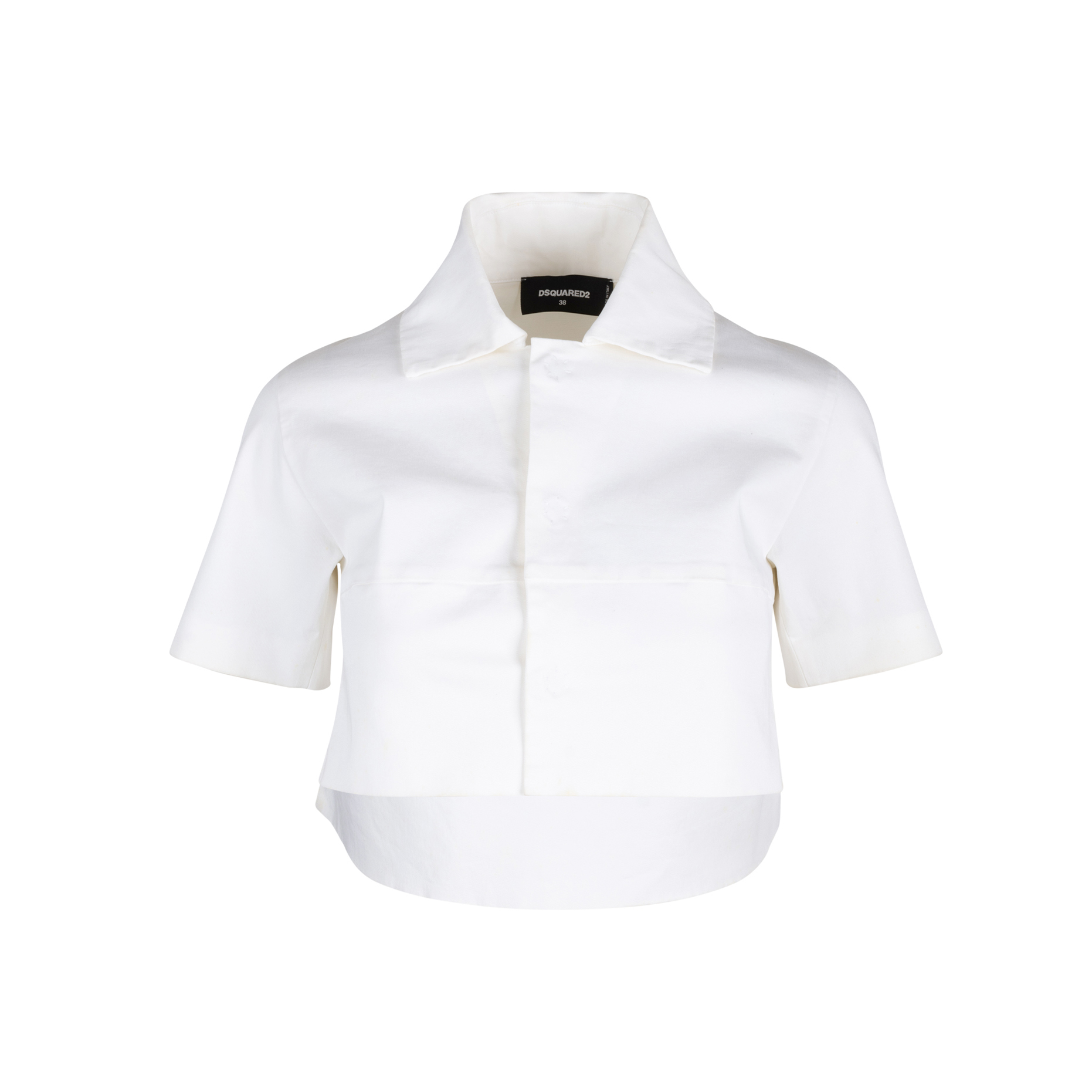 75ef8829 Authentic Second Hand Dsquared2 Cropped Shirt (PSS-515-00267) | THE FIFTH  COLLECTION