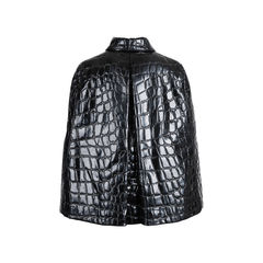 Miu miu croc embossed faux patent leather cape 2?1547457213