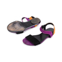 Authentic Pre Owned Gucci Colour Block Suede Sandals (PSS-515-00257) - Thumbnail 1