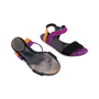 Authentic Pre Owned Gucci Colour Block Suede Sandals (PSS-515-00257) - Thumbnail 2