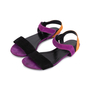 Authentic Pre Owned Gucci Colour Block Suede Sandals (PSS-515-00257) - Thumbnail 3