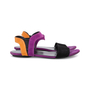 Authentic Pre Owned Gucci Colour Block Suede Sandals (PSS-515-00257) - Thumbnail 4