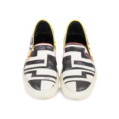 Authentic Pre Owned Emilio Pucci Leather Embossed Slip Ons (PSS-515-00261)