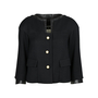 Authentic Pre Owned Chanel Leather and Tweed Slit Jacket (PSS-605-00001) - Thumbnail 0