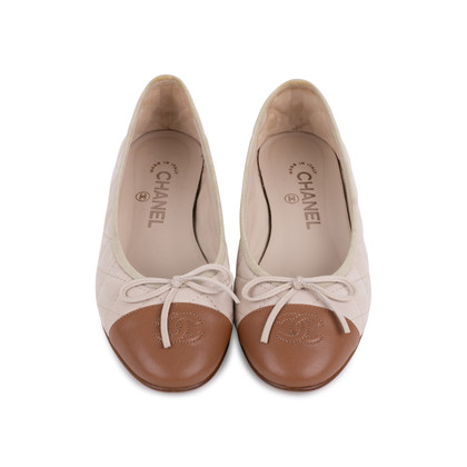 Authentic Second Hand Chanel Quilted Ballerina Flats (PSS-246-00275)