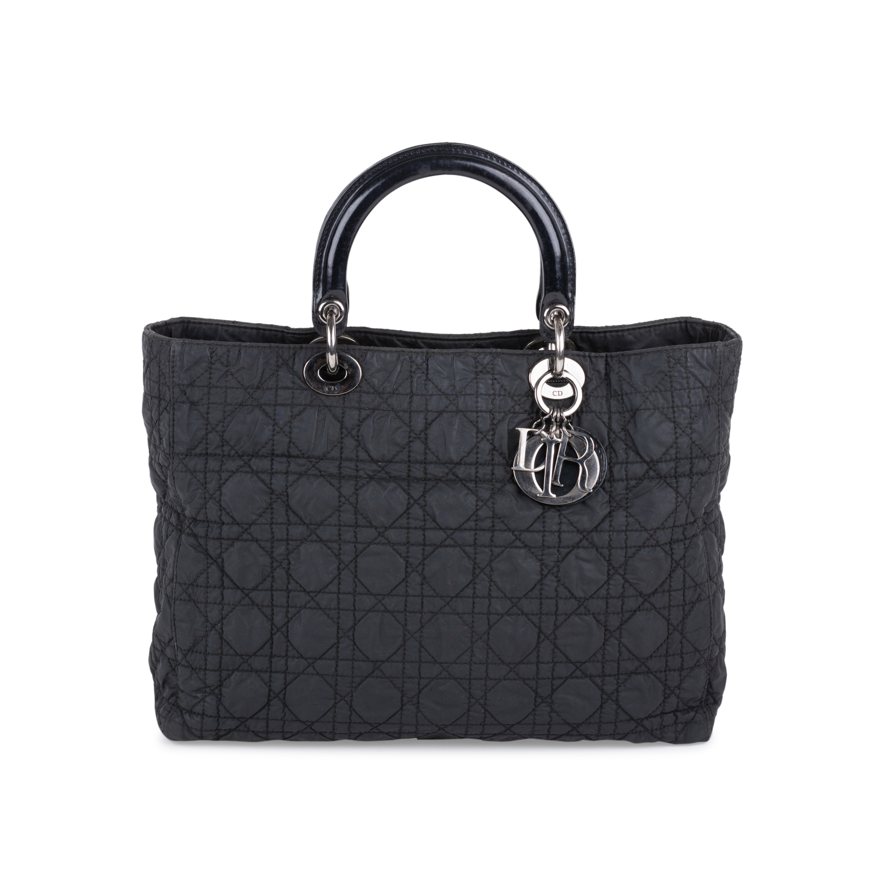 96a21738b5 Authentic Second Hand Christian Dior Large Nylon Lady Dior Bag  (PSS-132-00137) - THE FIFTH COLLECTION