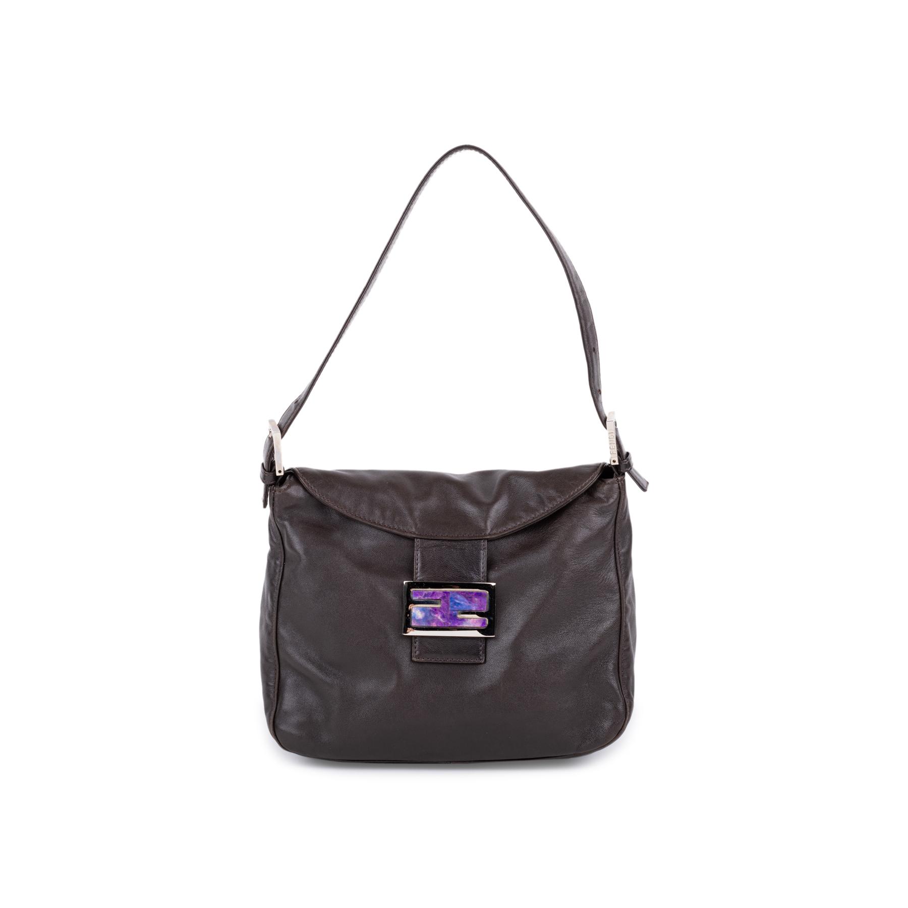221f053b15e5 Authentic Second Hand Fendi Marble Logo Shoulder Bag (PSS-581-00010 ...