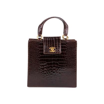 Authentic Vintage Chanel Crocodile Top Handle Bag (PSS-606-00014)