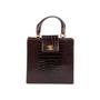 Authentic Vintage Chanel Crocodile Top Handle Bag (PSS-606-00014) - Thumbnail 0