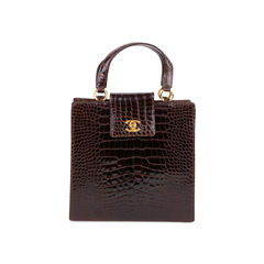 Crocodile Top Handle Bag