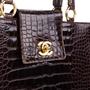 Authentic Vintage Chanel Crocodile Top Handle Bag (PSS-606-00014) - Thumbnail 4