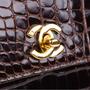 Authentic Vintage Chanel Crocodile Top Handle Bag (PSS-606-00014) - Thumbnail 5