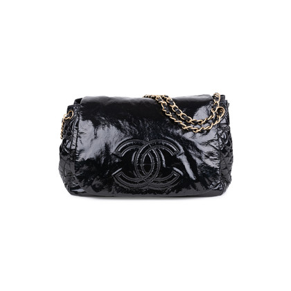 Authentic Second Hand Chanel Patent Vinyl Rock and Chain Large Flap Bag (PSS-606-00007)