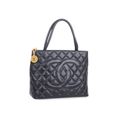 Chanel medallion tote bag black 2?1547710428
