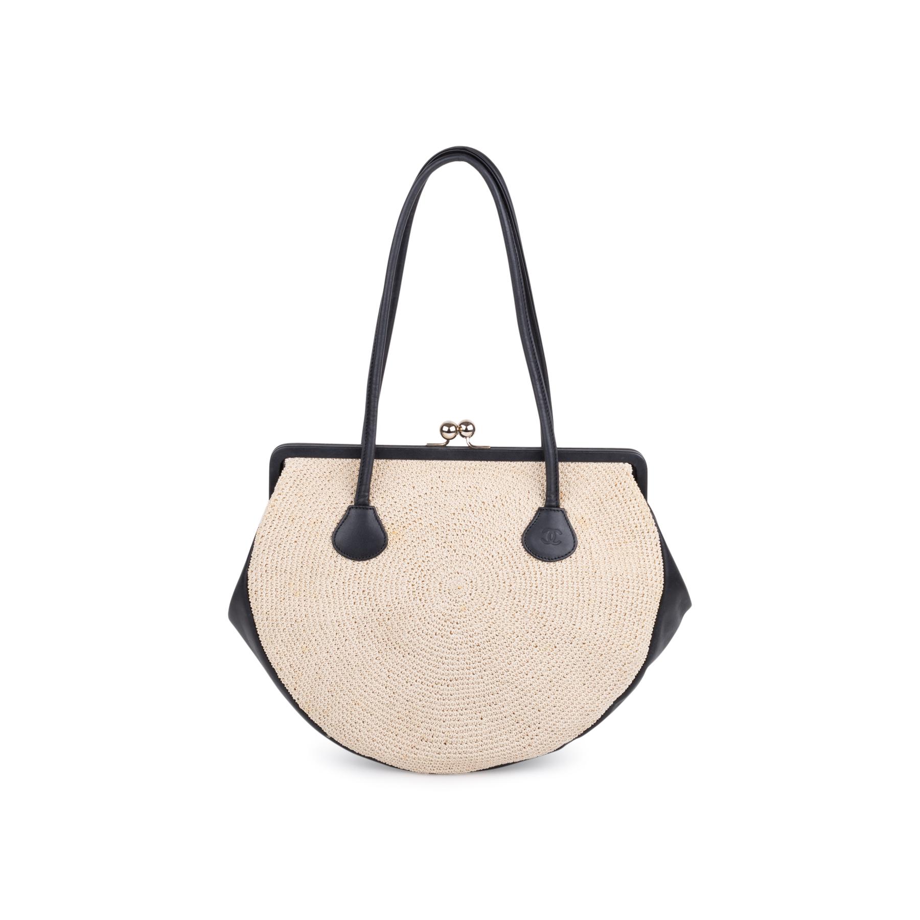 903b601f7118 Authentic Second Hand Chanel Woven Kiss Lock Handbag (PSS-606-00015 ...