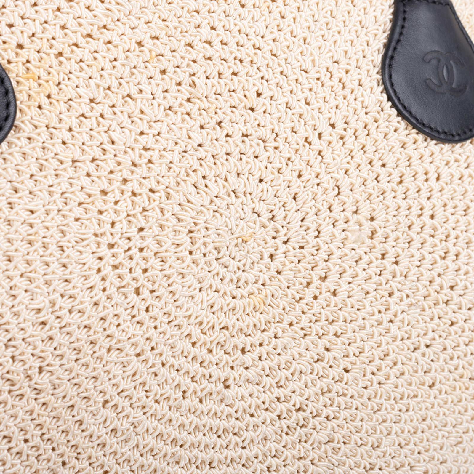 3825bd73755b ... Authentic Second Hand Chanel Woven Kiss Lock Handbag (PSS-606-00015) ...