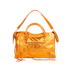 Orange Metallic City Bag