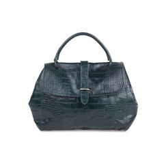 Crocodile Embossed Weekend Bag