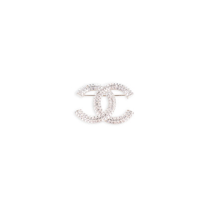 Authentic Second Hand Chanel Crystal CC Brooch (PSS-598-00001)