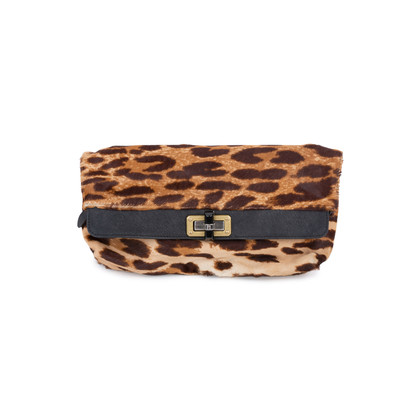 Authentic Second Hand Lanvin Leopard Calf Hair Clutch (PSS-048-00152)