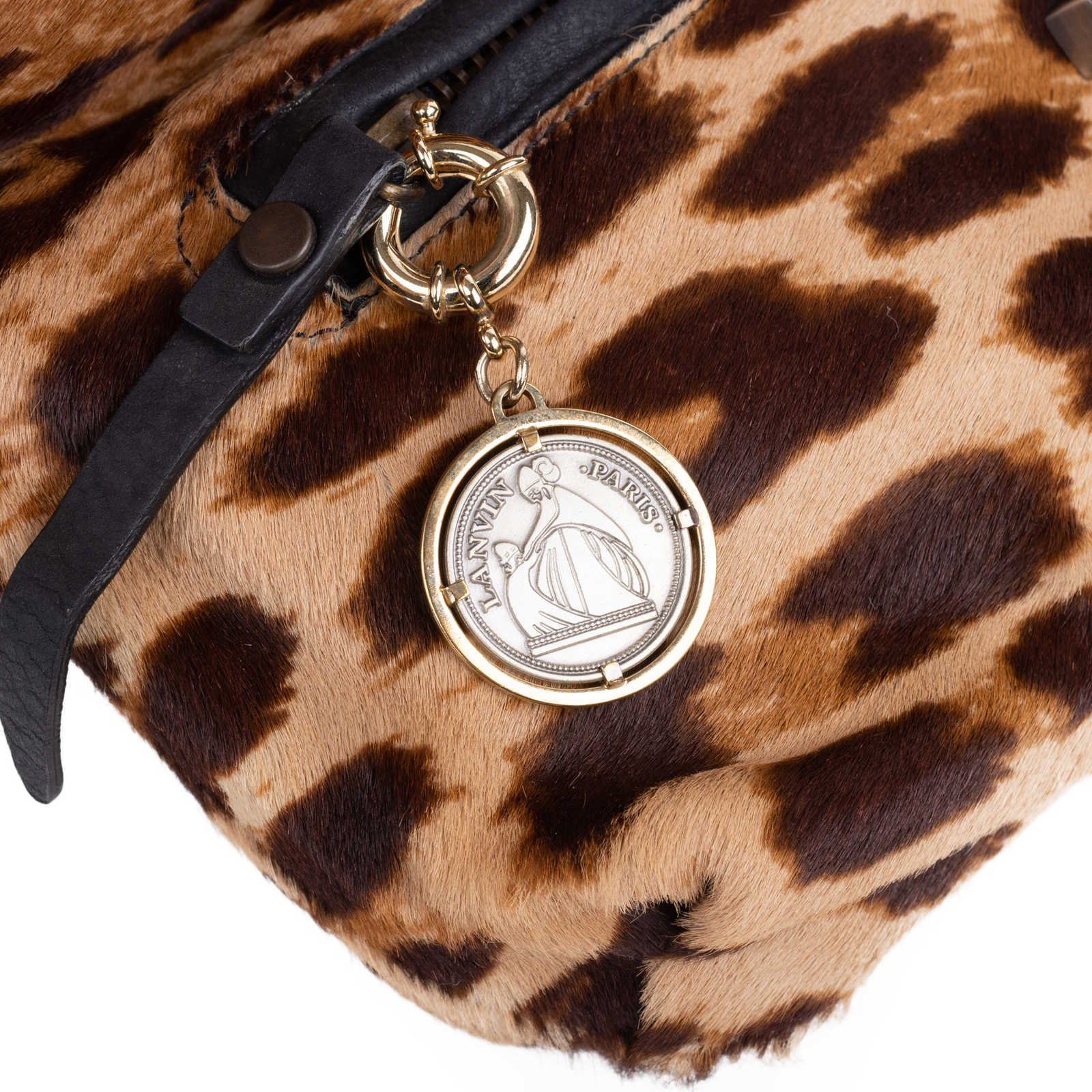... Authentic Second Hand Lanvin Leopard Calf Hair Clutch (PSS-048-00152)  ... 900984db1