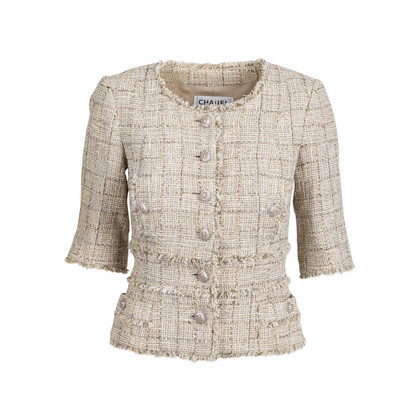 Authentic Pre Owned Chanel Spring 2010 Short Sleeve Tweed Blazer (PSS-606-00003)