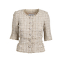 Authentic Pre Owned Chanel Spring 2010 Short Sleeve Tweed Blazer (PSS-606-00003) - Thumbnail 0
