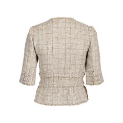 Chanel spring 2010 short sleeve tweed blazer 2?1547826470