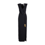 Authentic Second Hand Badgley Mischka Tassel Tie Crepe Gown (PSS-606-00004) - Thumbnail 0
