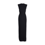Authentic Second Hand Badgley Mischka Tassel Tie Crepe Gown (PSS-606-00004) - Thumbnail 1