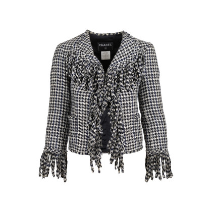 Authentic Second Hand Chanel Spring 2007 Houndstooth Jacket (PSS-606-00001)