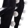 Authentic Second Hand Saint Laurent Crystal Pom Pom Era 110 Sandals (PSS-617-00001) - Thumbnail 3