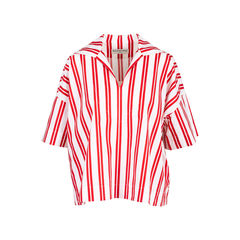 Striped Cotton Poplin Blouse