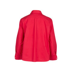 Jil sander red cotton button down shirt 2?1547905798