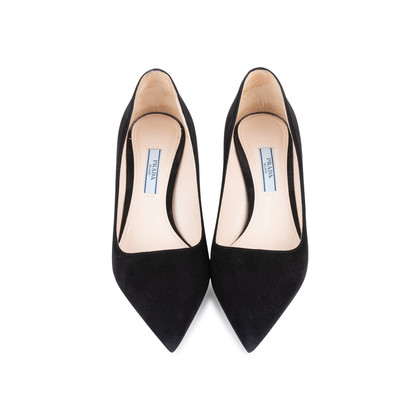 Authentic Second Hand Prada Suede Pointed Pumps (PSS-145-00273)