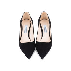 Suede Pointed Pumps