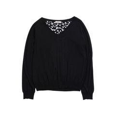 Lace Back Sweater