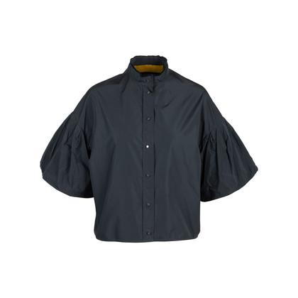 Authentic Second Hand Lanvin Puff Sleeve Taffeta Blouse (PSS-145-00279)