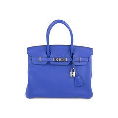 Bleu Electrique Birkin 30