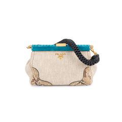 Lino Twist Frame Shoulder Bag