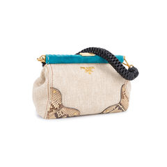 Prada lino twist frame shoulder bag neutral 2?1548170410