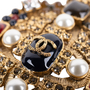 Authentic Pre Owned Chanel Paris-Byzance Brooch (PSS-145-00270) - Thumbnail 2