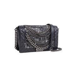 Chanel enchained boy bag black 2?1548171230