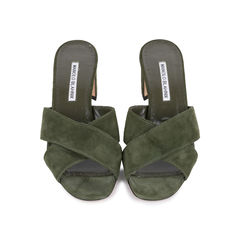 Otawi Crisscross Suede Slides