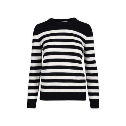 Authentic Second Hand Saint Laurent Striped Cashmere Sweater (PSS-126-00132)