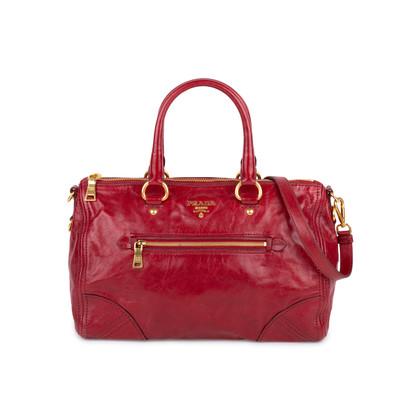 Authentic Second Hand Prada Vitello Shine Satchel Bag (PSS-333-00061)