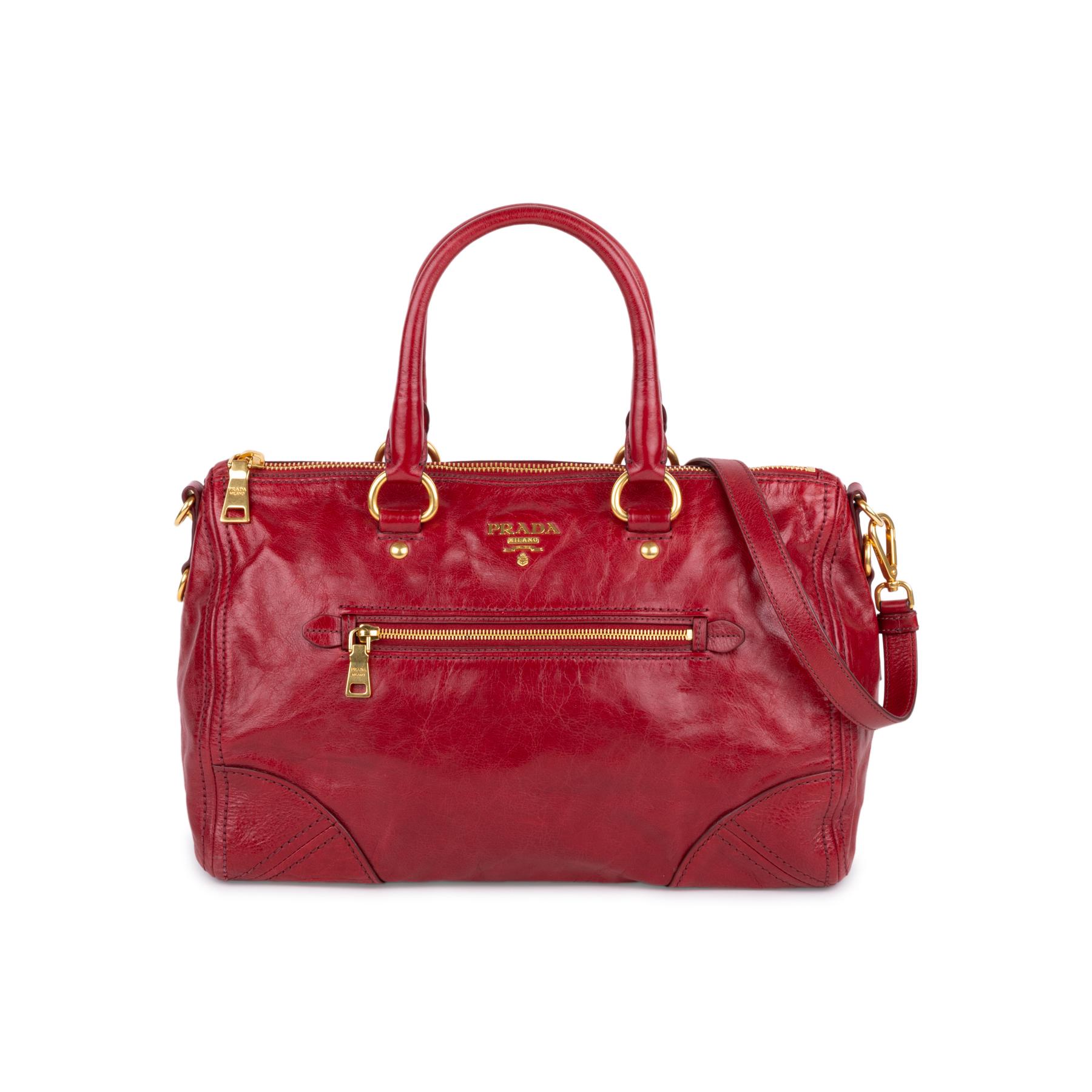 4d447fc6f73d Authentic Second Hand Prada Vitello Shine Satchel Bag (PSS-333-00061 ...